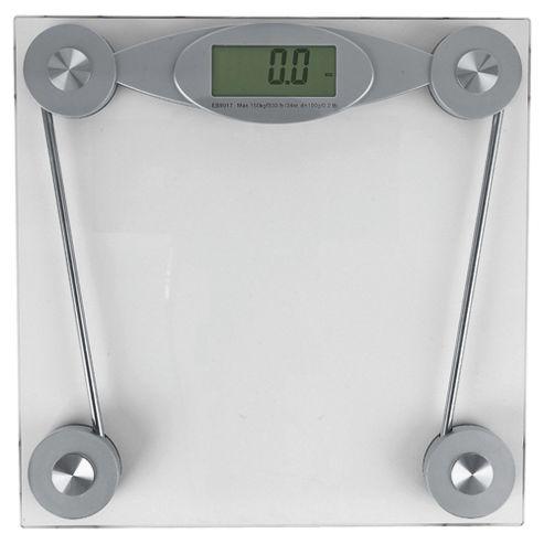Tesco Clear Glass Electronic Bathroom Scale