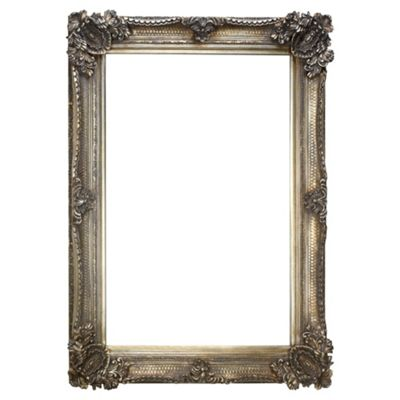 Abbey Mirror Silver Effect 92X66Cm