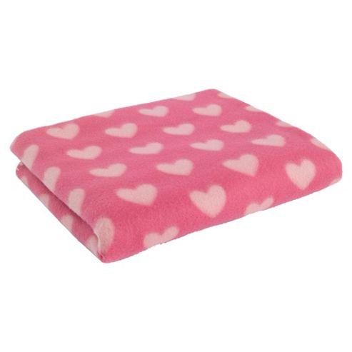 Tesco Kids Hearts Fleece - Pink