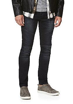 F&F Biker Style Stretch Skinny Jeans - Indigo