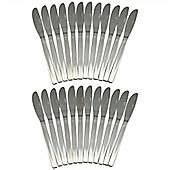 Argon Tableware Set Of 24 Stainless Steel Dinner Knives