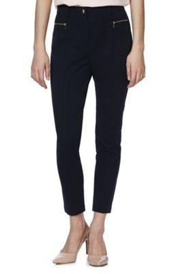 F&F Twill Skinny Trousers Navy 8