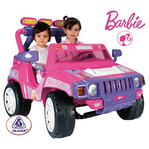 Barbie 12V Ride-On Jeep, Pink