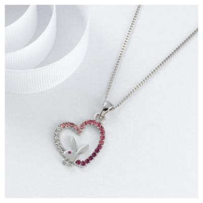 Playboy Pink Crystal Heart Pendant