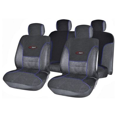 Autocare AC1653 Targa Seat Cover Set, Black and Blue