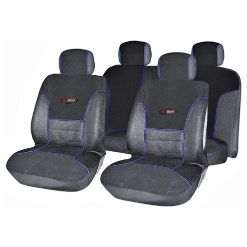 Autocare AC1653 Targa Seat Cover Set, Black and Blue
