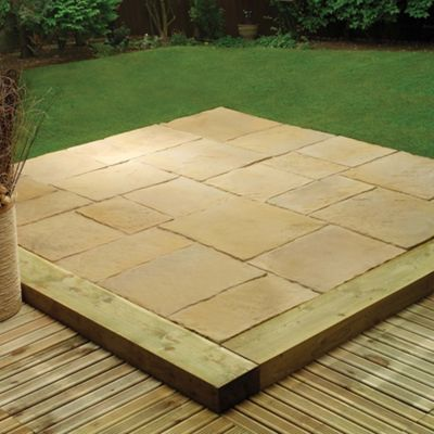 Stamford Harvest Gold Patio Kit 5.76m2