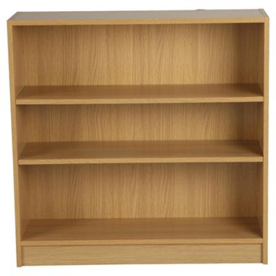 Fraser Oak Effect 3 Shelf Bookcase, Wide