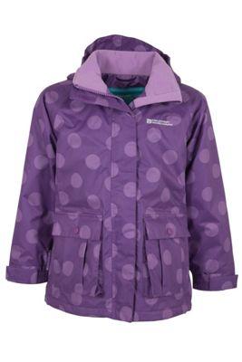 Gretel Kids Girls Spotted Hooded Waterproof Rain Coat Jacket