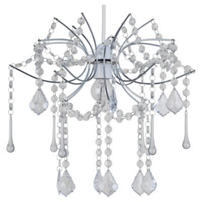 Tesco Lighting New Waterfall Pendant, Clear