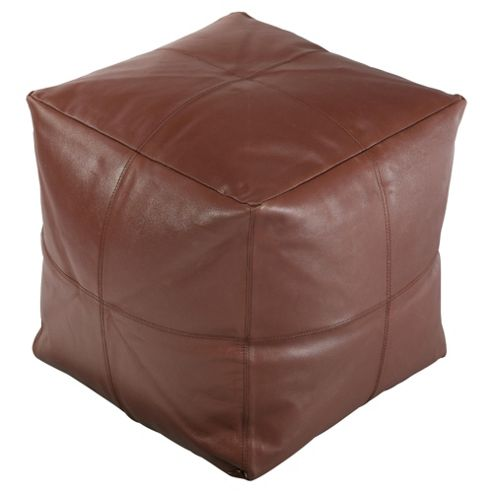 Leather Bean Cube, Chocolate