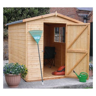 8x6 Finewood Classic Apex Shed with Topcoat with Installation