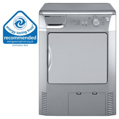 Beko DRCS68 Condenser Tumble Dryer, 6 kg Load, C Energy Rating. Silver