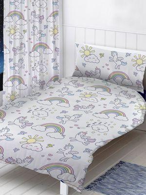 Pastel Unicorns Junior Toddler Duvet Cover Set
