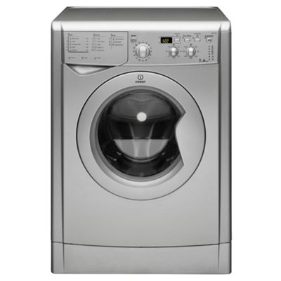 Indesit IWD7145S Washing Machine, 7kg Wash Load, 1400 RPM Spin, A Energy Rating. Silver
