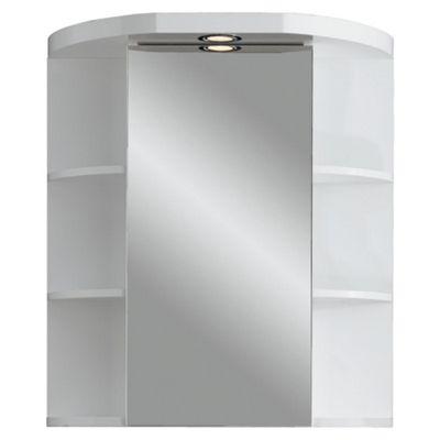 Croydex Single Door Illuminated Cabinet & Shelves, White