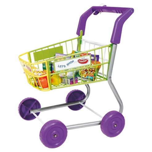 Casdon Little Shopper Pretend Play Shopping Trolley & Food