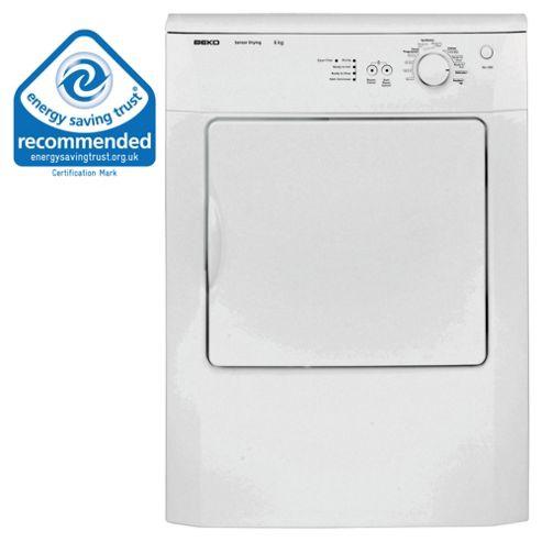 Beko DRVS62 Vented Tumble Dryer, 6 kg Load, C Energy Rating. White