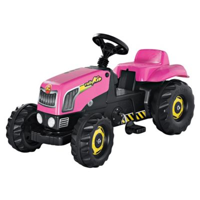 Rolly Pink Pedal Tractor Ride-On