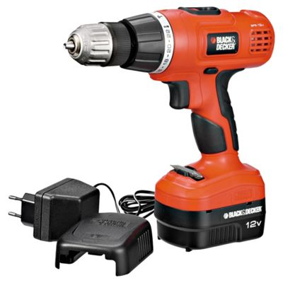 black and decker hammer drill. black+decker 12v cordless hammer drill epc128bk black and decker