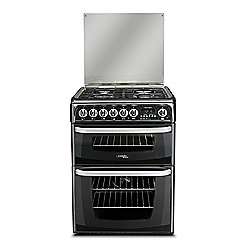 Hotpoint Duel Fuel Cooker with Electric Grill and Gas Hob, CH60DHKF S - Black