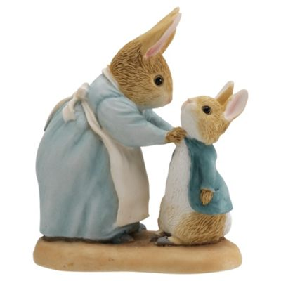 Beatrix Potter Mrs Rabbit & Peter Figurine