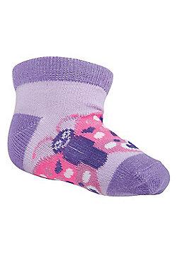 Butterfly Junior Sock - Purple