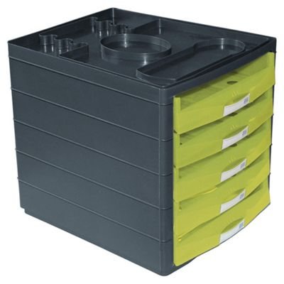 Pierre Henry Horizon Open-Draw Desktop Organiser, Lime