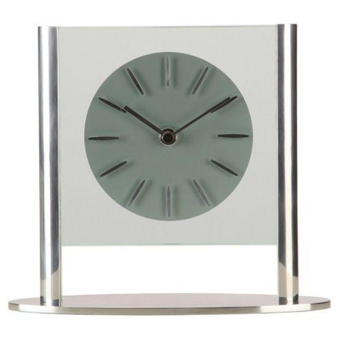 Acctim Eridu Silver Mantel Clock