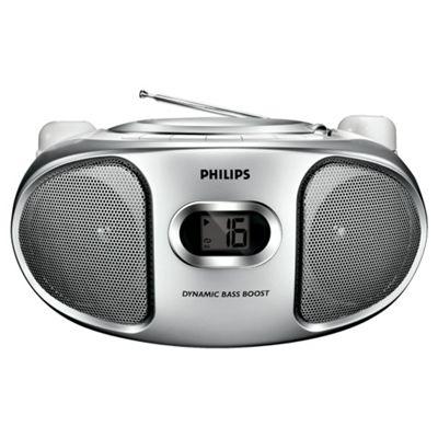 Philips AZ102S/05 CD Boombox Silver