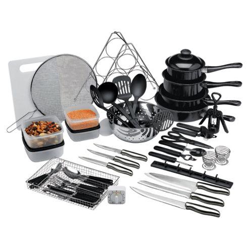 50 Piece Steel And Non-Stick Kitchen Starter Set