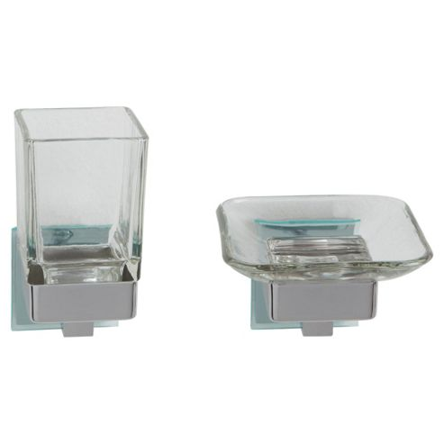 Tesco Lincoln Soap Dish and Tumbler