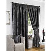 Venice Pencil Pleat Curtains 168 x 229cm - Black