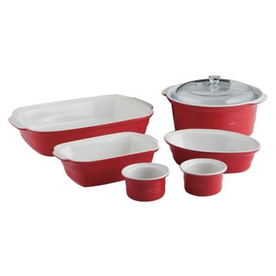 Pyrex 6 piece Ceramic Set, Red