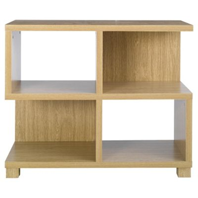 Camden Low Bookcase, Oak-effect