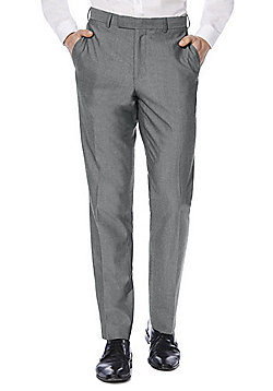 F&F Regular Fit Suit Trousers - Grey