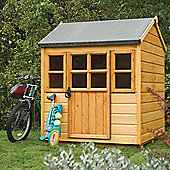 Rowlinson Little Lodge Wooden Playhouse, 4ft x 4ft