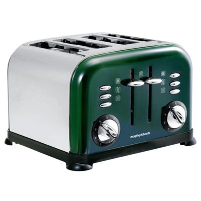 Morphy Richards 44731 Green Metallic 4 Slice Accents
