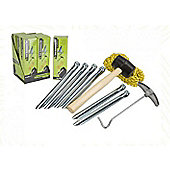Summit Tent Accessories Set - mallet, ropes, pegs & extractor