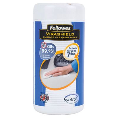 Fellowes Virashield Surface Wipes Tub - 75