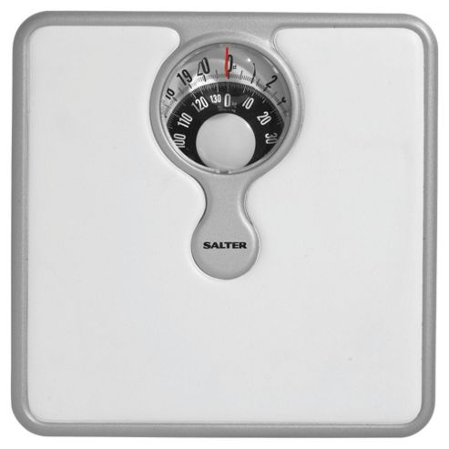 Salter Compact Mechanical Bathroom Scale with Magnifying Lense