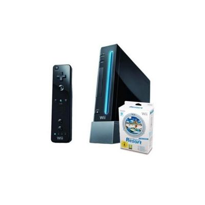 Nintendo Wii With Sports Resort - Black (Motion Plus Controller)