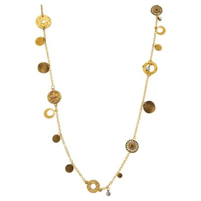 Elsepth Gibson Gold Coin Necklace