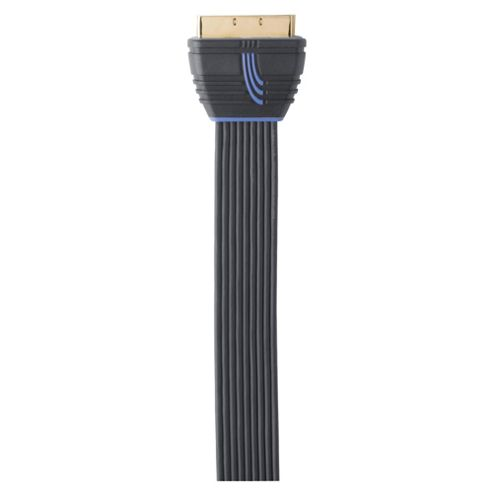 QED Profile ultra-compact Scart Cable 1M