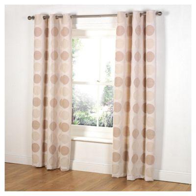 Tesco Chenille Circles Lined eyelet Curtains W163xL229cm (64x90