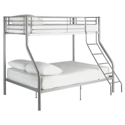Mika Trio Metal Bunk Bed, Silver