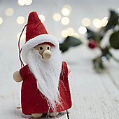 Set of Three Mini Nordic Santa Decorations