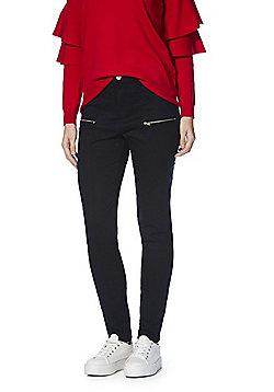 F&F Seam Front Skinny Twill Trousers - Navy