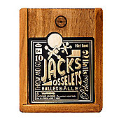npw Jacks set in a Wooden Gift Box