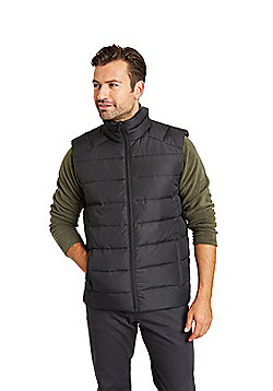 Zakti Mens Flare Down Padded Polyester Gilet with Water Resistant Fabric - Black